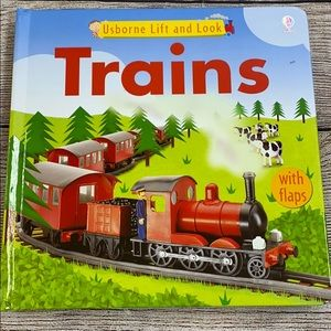 Usborne Lift and Look Trains Book